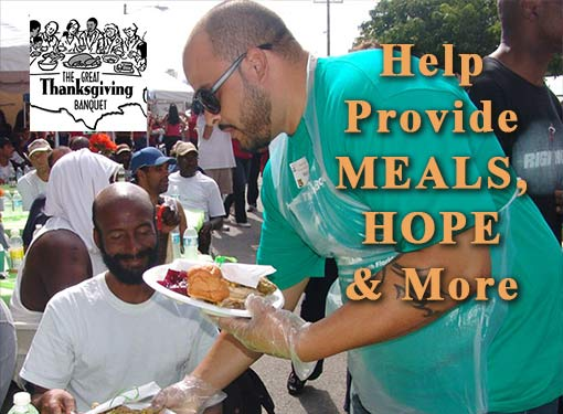 Help men, women, and children this Thanksgiving and beyond.